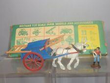 "VINTAGE BRITAINS MODEL No.9567  "" TUMBREL CART  & FARM HAND ""   VN MIB"