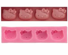 Hello kitty silicone mold Mould chocolate icing Cup Cake topper  Candy