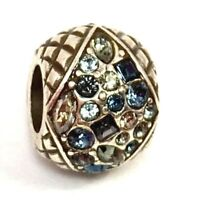 Authentic Brighton Gemma Bead J98902 Silver Finish Blue Crystals, New