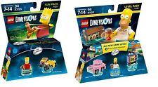 LEGO Dimensions 71202 Homer & 71211 Bart (New, Wrapped box but still sealed)