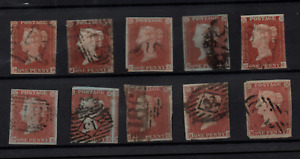 GB QV 1841 1d red imperf used collection unchecked WS22398