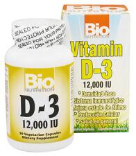 Bio Nutrition Vitamine D3 12000 Ui De Lanoline pour Sain OS 50 Vcapsules