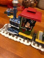 Danbury Disney 1997 Mickey's Christmas Train Set -near Mint! 6 Pieces