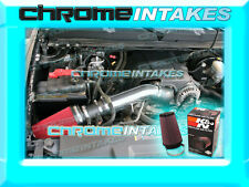 07-08 CHEVY SILVERADO/SUBURBAN/TAHOE/ESCALADE V8 COLD AIR INTAKE BLACK RED+K&N F