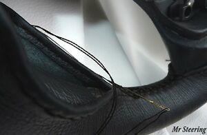 FITS RENAULT R8 GORDINI 100%REAL BLACK ITALIAN LEATHER STEERING WHEEL COVER NEW