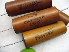 ELMAG 0.004 uf 3KVAC / 5000 VDC  PAPER IN OIL CAPACITOR FREE S&H