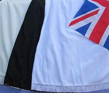 BRITISH MADE LADIES HALF SLIP WAIST SLIP UNDERSKIRT SIZES 10 - 24 £4.99 - £6.99