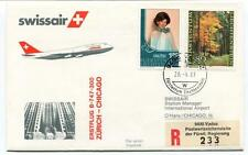 FFC 1983 Swissair First Flight B 747 300 Zurich Chicago REGISTERED Furstentum
