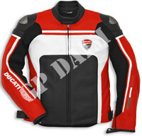 Ducati Corse Motorbike Leather moto GP motorcycle Racing Jacket All Sizes bikers
