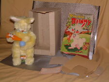 ALPS, VINTAGE, PICNIC BUNNY THAT ACTUALLY POURS LIQUID, W/BOX! CHECK OUT VIDEO!