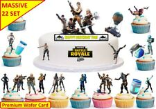 Fortnite DANCE Birthday Cup Cake Party Toppers Wafer Edible STAND UP CUSTOM