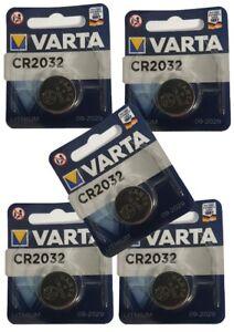 5 x VARTA CR2032 Lithium 3V Knopfzelle 3 Volt CR 2032 Batterie