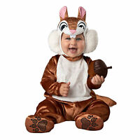 Baby Furry Little Chipmunk Squirrel Animal Halloween Costume Plush Acorn Infant