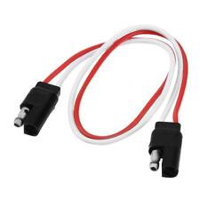 2-Pin SAE Plug Trailer Light Wiring Harness Extension Cable Flat Wire Connector