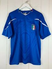 Italia Gliazzurri Soccer Football Jersey Youth Boys Xl Figc Patch Blue Vintage