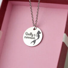 Charm Really A Mermaid Alloy Women Girl Gift Fashion Jewelry Necklace Pendant