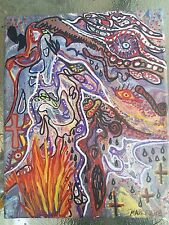 Nightmare Art Outsider Monster Original Painting Artwork Abstract Dante ooak