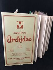 Vintage Springer Orchidee Wool Tapestry Yarn Sample Book Color Swatches Germany
