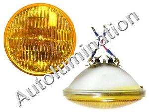 """5-3/4"""" Amber Glass Sealed High Beam Headlight Fog Light Headlamp Bulb 12v H5001"""