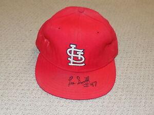 Lee Smith Game Worn Hat Cap St. Louis Cardinals HOF JSA 300th Save