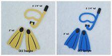 Die Cut Scuba Snorkeling Fins Mask Scrapbook Page Embellishment Paper Piecing