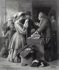 CHOOSING THE WEDDING GOWN 1869 William Mulready - Heath VICTORIAN ENGRAVING