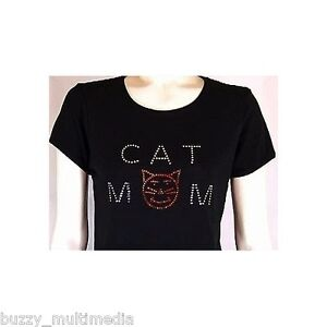 Cat Mom Rhinestone Shirt, cute kitty kats, cat gifts