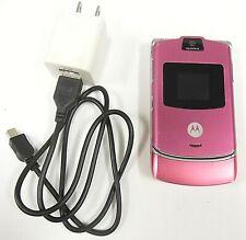 New listing Motorola Razr / Razor V3 - Pink ( At&T / Cingular ) Cellular Flip Phone -Bundled