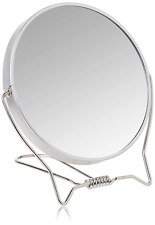 2 Side Cosmetic Makeup Mirror Vanity Compact Hand Held Fold Stand NEW
