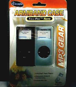 Nano IPod Armband 2 Cases MP3 Gear IConcepts Excercise Jogging Music Black Clear