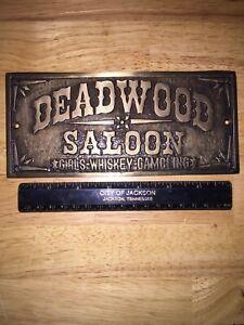 Deadwood Saloon Girls Whiskey Gambling Silver Finish Plate Solid Metal Patina Vg