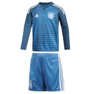 adidas DFB Deutschland Torwart Minikit Heimtrikot WM 2018 blau / weiß  [CE1725]