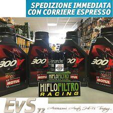 4 Litri MOTUL 300V Road Racing FL 5W40 Olio Motore Moto ESTERE + Filtro Hiflo OM