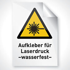 1000 WEISS GLÄNZEND Deko Druck Folie Aufkleber Schild beschriften Laser DIN A4