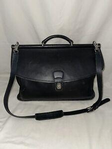 Vintage Coach 5266 Beekman Black Leather Large Shoulder Strap Messenger Bag