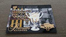 2003 XL Ultra Richmond 1980 Premiership Commemorative Card SIGNED JEWELL & ROACH