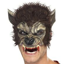 Halloween Fancy Dress Adult Half Face Werewolf Wolf Face Mask by Smiffys