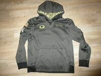 Green Bay Packers NFL Camo Salute to Service Reebok Hoodie sweatshirt Youth L 16