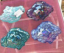 New listing Akcam Sunflower Dessert Glass Bowl Set Iridescent Oyster Seashell - Gorgeous