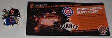 SGA SF Junior Giants PIN June 2 2012 Series Chicago Cubs vs San Francisco pin