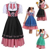 Women's German Dirndl Dress Bavarian Waitress Costumes For Oktoberfest Cosplay