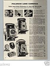 1957 PAPER AD Polaroid Land Camera Deluxe Pathfinder Speedliner Highlander