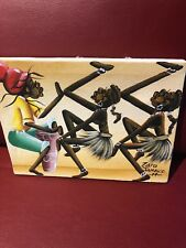 "Zaro Jamican Art - 10-1/2"" X 8 On Canvas"