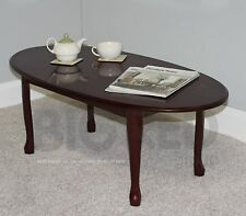 Wooden Oval Coffee Tables with Flat Pack