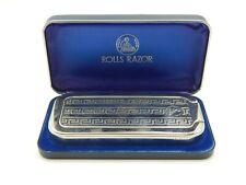 Antique Rolls Razor Portable Razor, Stone, & Strop Shave Kit w/ Case, Never Used