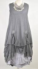 LAGENLOOK DESIGNER 'SHE' 2 PIECE PARACHUTE DRESS & TUNIC DRESS  SIZE L/XL  GREY