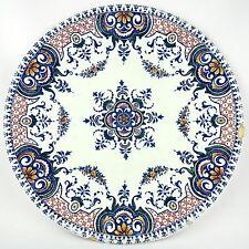 """Ancienne Assiette Faïence de GIEN """"Rouen"""" French antique ceramic 19th polychrome"""
