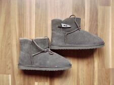 Boots Grey Uk 2 1/2 Us 4 1/2 Gr. 35/36 Thick Lined New