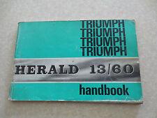 Original Triumph Herald 13/60 automobile owner's manual