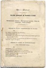 2 diplômes enseignement 1873 Brevet capacité 1905 + livret collège Châtellerault